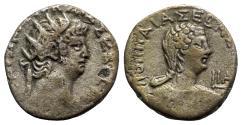 Ancient Coins - Nero and Poppaea (54-68). Egypt, Alexandria. BI Tetradrachm - year 11