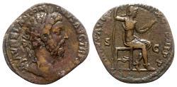Ancient Coins - Marcus Aurelius (161-180). Æ Sestertius - rome - R/ Virtus