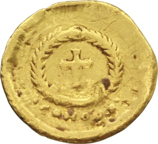 Ancient Coins - Eudocia, wife of Theodosius II (died 460 AD). GOLD  Tremissis, circa 444 AD. Constantinople mint.