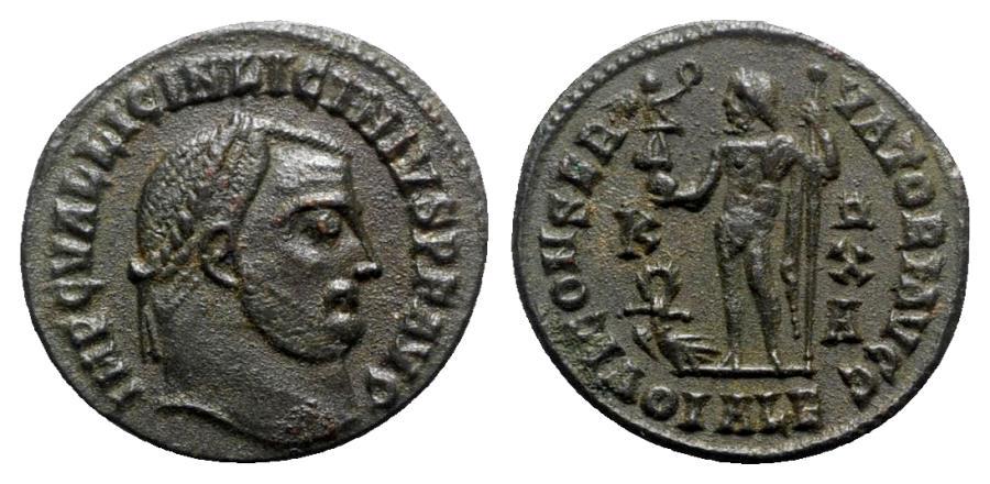 Ancient Coins - Licinius I (308-324). Æ Follis - Alexandria - R/ Jupiter