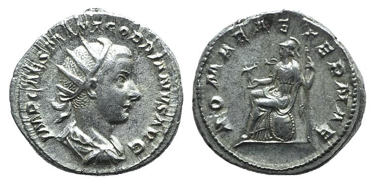 Ancient Coins - Gordian III (238-244). AR Antoninianus. Rome, 240. R/ Roma