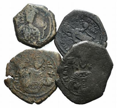 Ancient Coins - Lot of four Æ Tetarteron of Manuel I