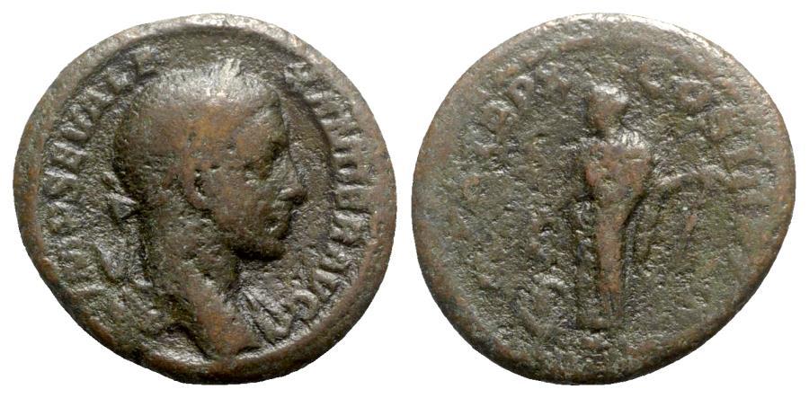 Ancient Coins - Severus Alexander (222-235). Æ As - Rome - R/ Annona