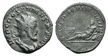 Ancient Coins - Postumus. Romano-Gallic Emperor, AD 260-269. AR Antoninianus R/ River-god Rhinus