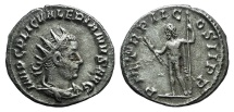 Ancient Coins - Valerian I. AD 253-260. AR Antoninianus. Rome mint. 1st emission, AD 253-254. R/ Jupiter