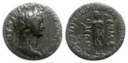 Ancient Coins - Domitian ( 81-96). Phrygia, Eumeneia. Æ - M. Kl. Valerianos, high priest of Asia - R/ Apollo