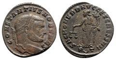 Ancient Coins - Constantius I (Caesar, 293-305). Æ Follis - Rome - R/ Moneta