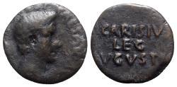 Ancient Coins - Augustus (27 BC-AD 14). Æ As - Emerita; P. Carisius, legatus pro praetore
