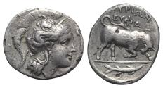 Ancient Coins - ITALY. Southern Lucania, Thourioi, c. 350-300 BC. AR Stater R/ Bull