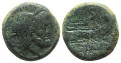 Ancient Coins - ROME REPUBLIC. Anonymous, Rome, after 211 BC. Æ Semis