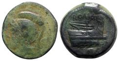 Ancient Coins - Roman Republic - Anonymous, Rome, c. 217-215 BC. Æ Uncia
