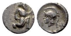 Ancient Coins - Cilicia, Uncertain, c. 4th century BC. AR Tetartemorion, Athena.