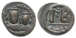 Ancient Coins - Heraclius (610-641). Æ 12 Nummi. Alexandria, 613-8.