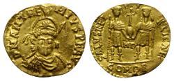 Anthemius (467-472). GOLD Solidus. Mediolanum, 467-470.  RARE