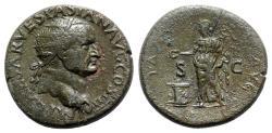 Ancient Coins - Vespasian (69-79). Æ Dupondius - Lugdunum - R/ Pax