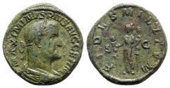 Ancient Coins - Maximinus I (235-238). Æ Sestertius - Rome - R/ Fides