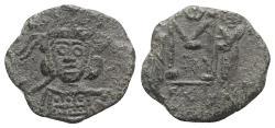 Ancient Coins - CONSTANTINE IV, Pogonatus. 668-685 AD. Æ Follis. Syracuse mint. Struck 681-685 AD.