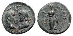 Ancient Coins - Titus and Domitian (Caesares, 69-81). Aeolis, Aegae. Æ