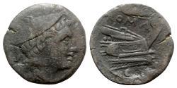 Ancient Coins - Roman Republic - Corn-ear series, Sicily, c. 211-210. Æ Sextans