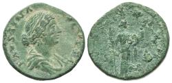 Ancient Coins - Faustina Junior (Augusta, 147-175). Æ As. Rome, 161-4.  R/ Fecunditas