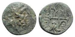 Ancient Coins - Caria, Halikarnassos, 2nd-1st centuries BC. Æ - Poseidon / Trident