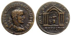 Ancient Coins - Philip I (244-249). Cyrrhestica, Cyrrhus. Æ - R/ Hexastyle temple