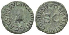 Ancient Coins - Claudius (41-54). Æ Quadrans. Rome, AD 41. Modius. R/ Large SC