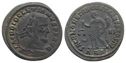 Ancient Coins - Diocletian. AD 284-305. Æ Follis. Aquileia mint, 2nd officina. Struck circa AD 302-303 .R/ MONETA