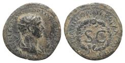 Ancient Coins - Trajan (98-117). Æ Semis. Rome mint, for circulation in Syria, AD 116.