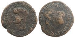 Ancient Coins - Tiberius with Germanicus and Drusus Caesars (14-37). Spain, Hispalis (Colonia Romula). Æ As, AD 14-19.