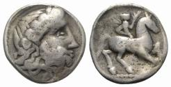 Ancient Coins - Celtic, Eastern Europe, imitating Philip II of Macedon, c. 3rd century BC. AR Tetradrachm
