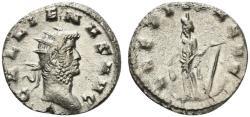 Ancient Coins - Gallienus (253-268). Antoninianus. Mediolanum, AD 263. R/ LAETITIA