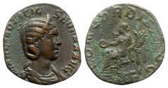 Ancient Coins - Otacilia Severa (Augusta, 244-249). Æ Sestertius - Rome - R/ Concordia