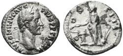 Ancient Coins - Antoninus Pius (138-161). AR Denarius. Rome, 148-9. R/ SALUS