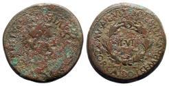 Ancient Coins - Augustus (27 BC-AD 14). Spain, Bilbilis. Æ As - L. Cor. Calidius and L. Semp. Rutilius, duoviri