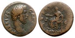 Ancient Coins - Aelius (Caesar, 136-138). Æ As - Rome - R/ Concordia