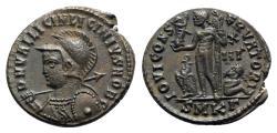 Ancient Coins - Licinius II (Caesar, 317-324). Æ Follis - Cyzicus - R/ Jupiter
