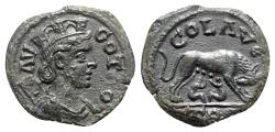 Ancient Coins - Troas, Alexandria, c. mid 3rd century AD. Æ - R/ She-wolf suckling the twins