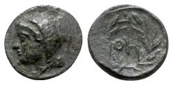 Ancient Coins - Thessaly, Thebai, 3rd century BC. Æ Chalkous - VERY RARE