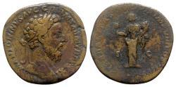 Ancient Coins - Marcus Aurelius (161-180). Æ Sestertius - Rome - R/ Liberalitas