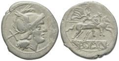 Ancient Coins - ROME REPUBLIC Anonymous, Rome, after 211 BC. AR Denarius. R/ Dioscuri on horseback