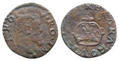 World Coins - Italy, Napoli, Carlo V d'Asburgo (1516-1556). Æ Due Cavalli, 1516-1556