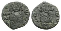 Ancient Coins - Constantine V and Leo IV (741-775). Æ 40 Nummi - Syracuse