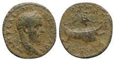 Ancient Coins - Macrinus (217-218). Phoenicia, Tyre. Æ - R/ Galley with murex