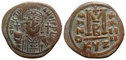 Ancient Coins - Justinian I (527-565). Æ 40 Nummi - Cyzicus, year 24