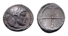 Ancient Coins - Sicily, Syracuse. Hieron I (478-466 BC). AR Obol