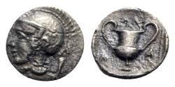 Ancient Coins - Lesbos, Methymna, c. 450-379 BC. AR Obol