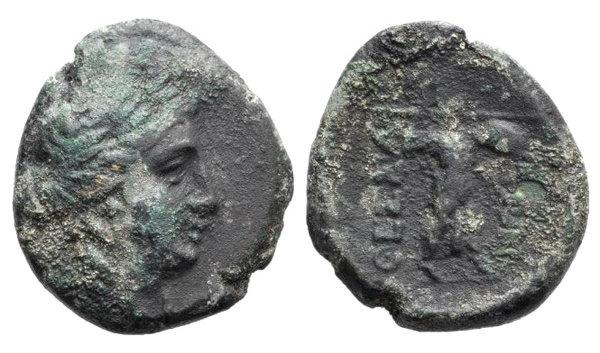 Ancient Coins - Thessaly, Thessalian League, c. 196-27 BC. Æ Trichalkon