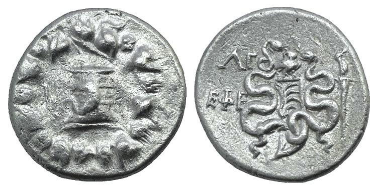 Ancient Coins - IONIA. Ephesus. 102 BC. AR Cistophorus. Simbol: OWL BMC Ionia —. SNG von Aulock —. SNG Copenhagen — RARE