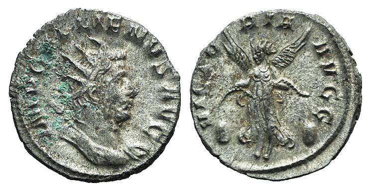 Ancient Coins - Gallienus. AD 253-268. Antoninianus. Mediolanum (Milan) R/ VICTORY FLYING